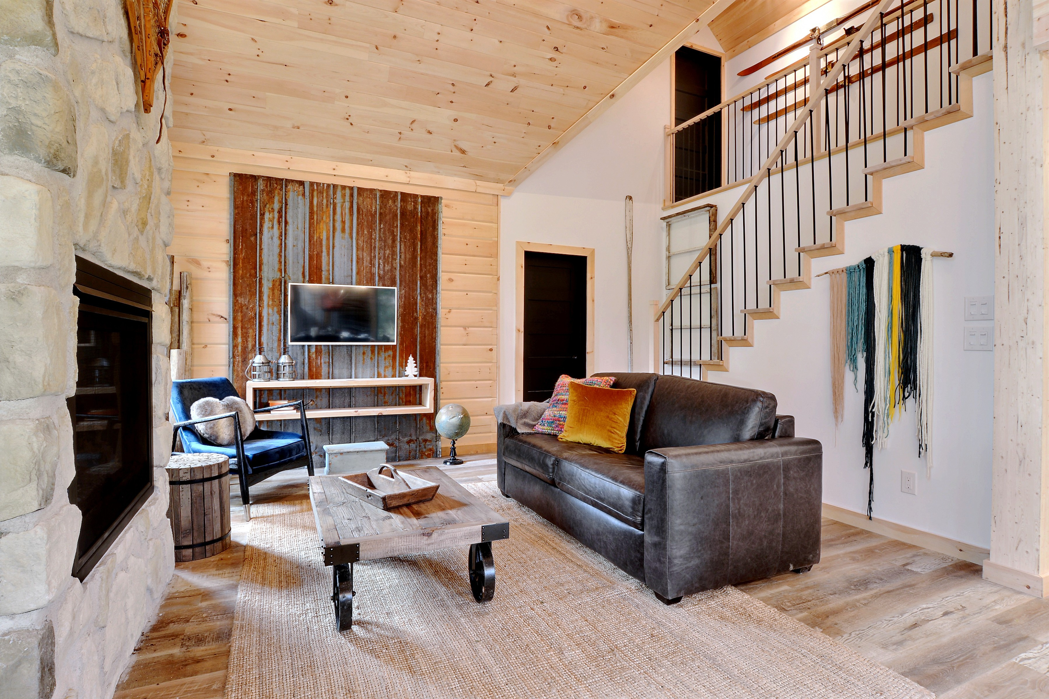 Timber Block Eastman Living Room and Stairs