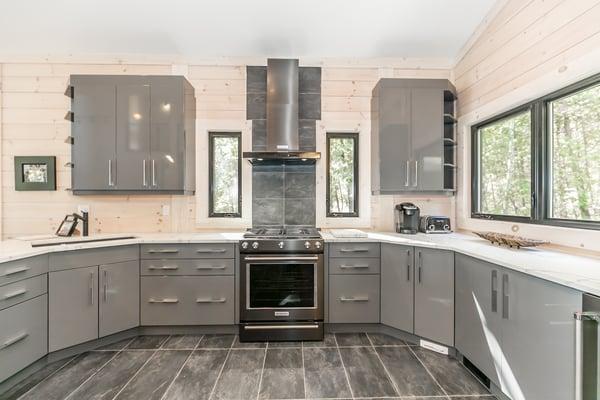 Timber Block contemporary modern kitchen