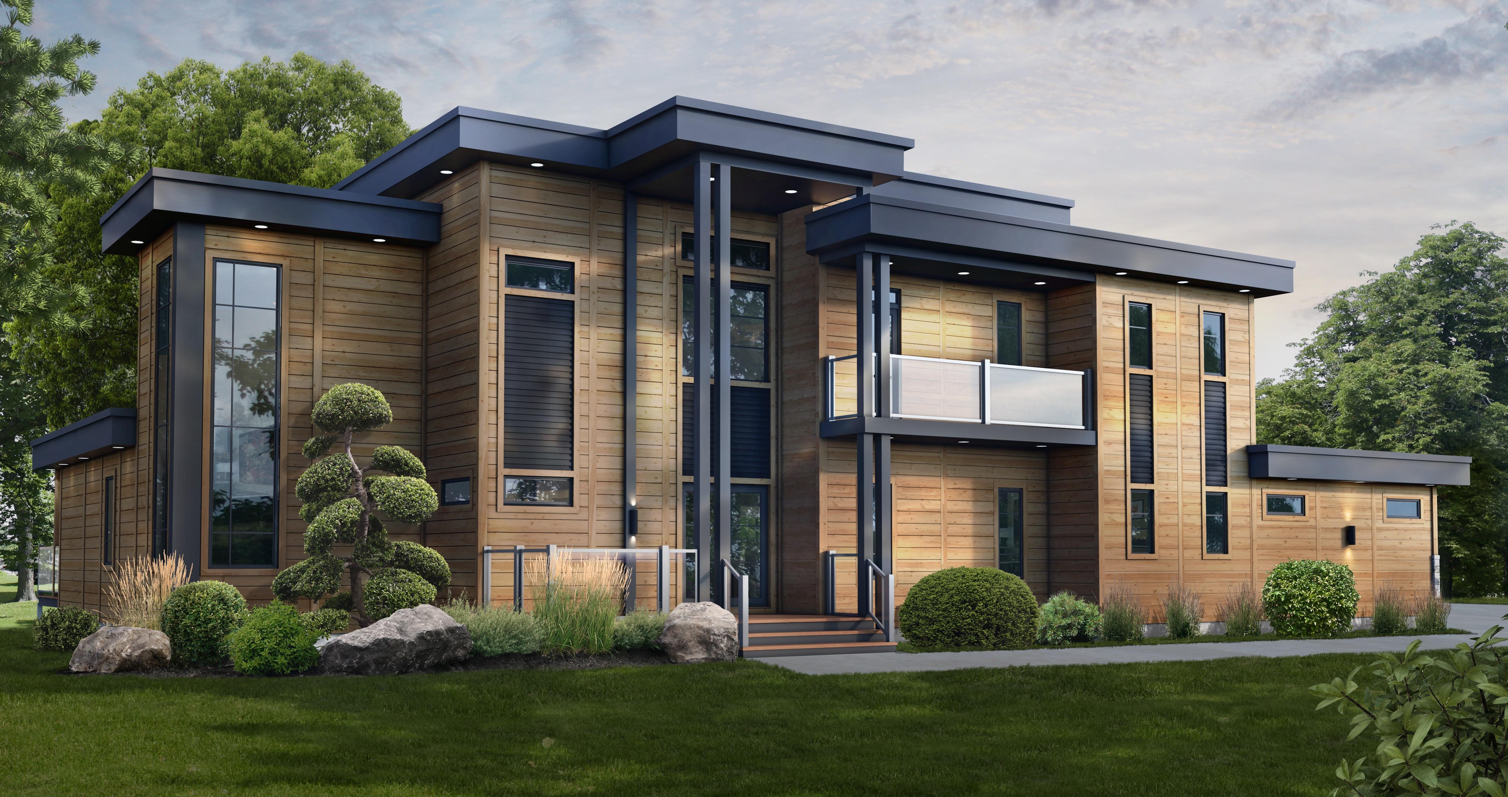 Timber Block Contemporary Home