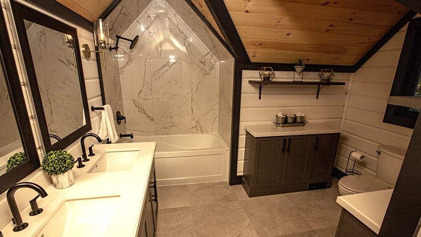 Timber Block bathroom
