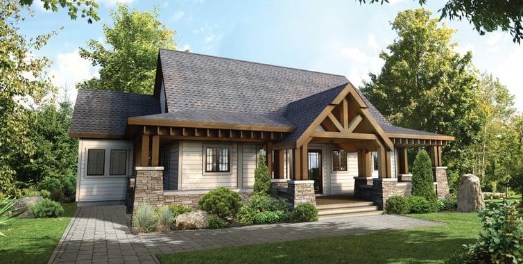Craftsman Style Timber Block Homes