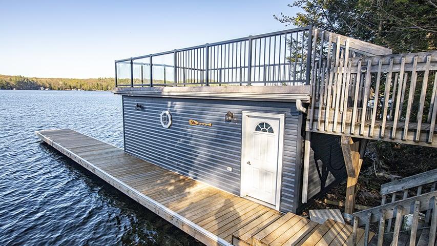 Timber Block custom boat house