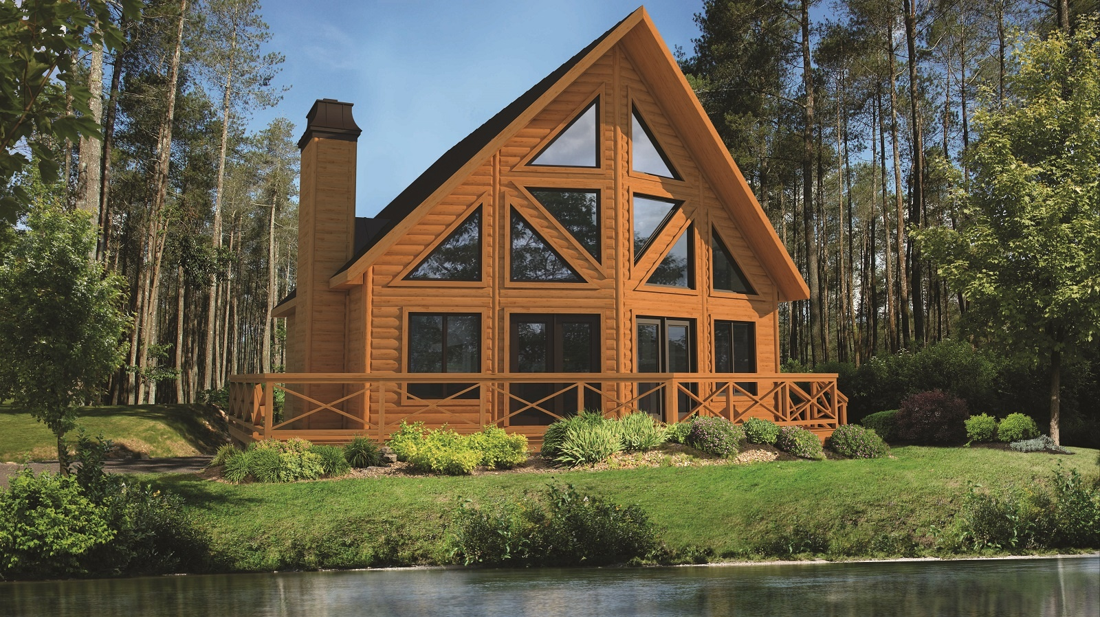 Timber Block classic wood home