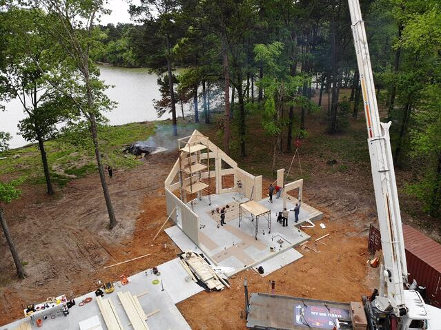 Texas Timber Block Wall Raising