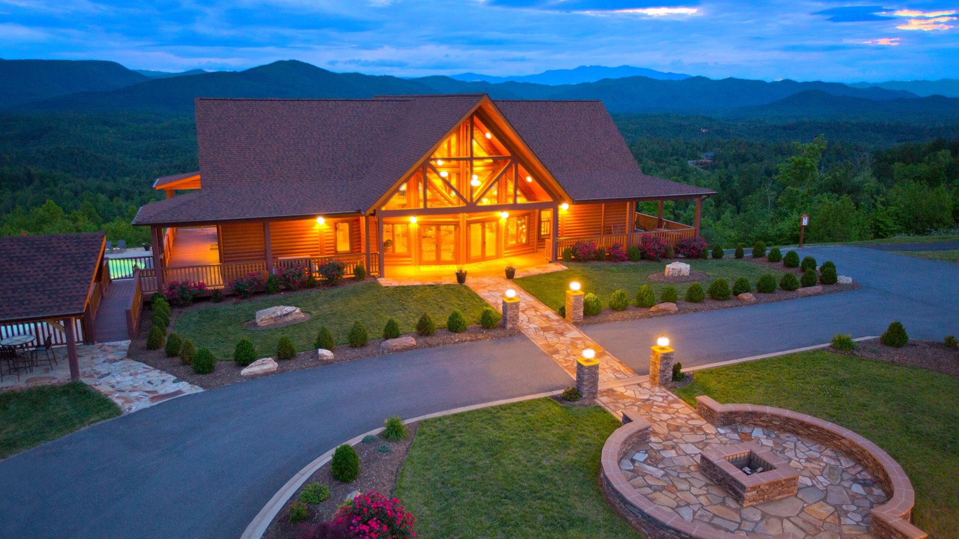 Timber Block Pisgah Mountain Lodge North Carolina