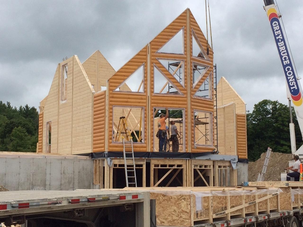 Timber Block Engineered Home - Wall Raising