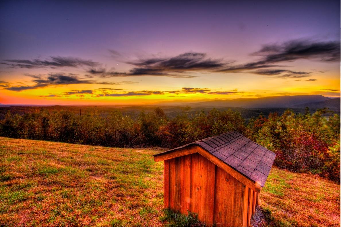 Coves Sunset Timber Block North Carolina