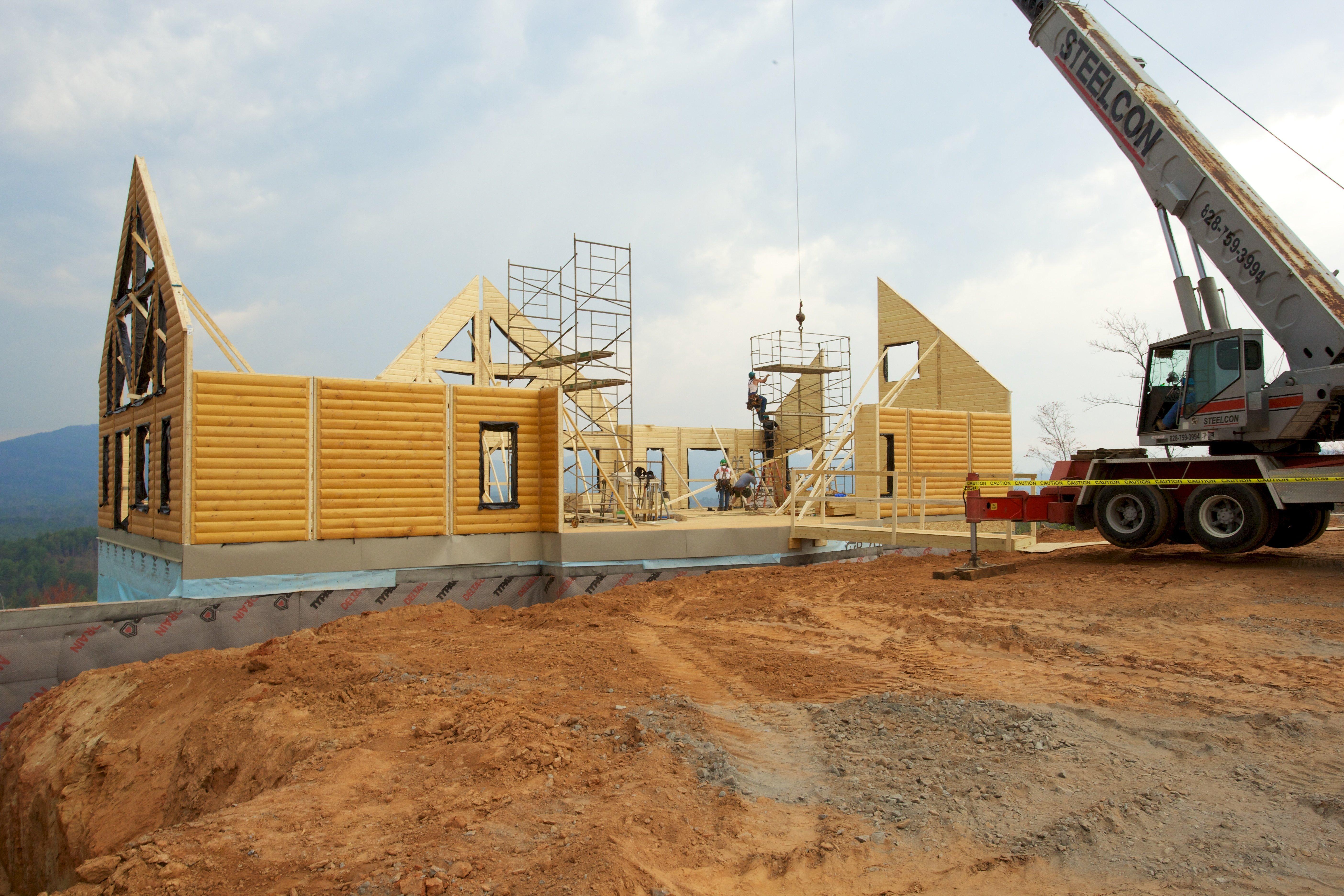 Timber Block North Carolina wall raising