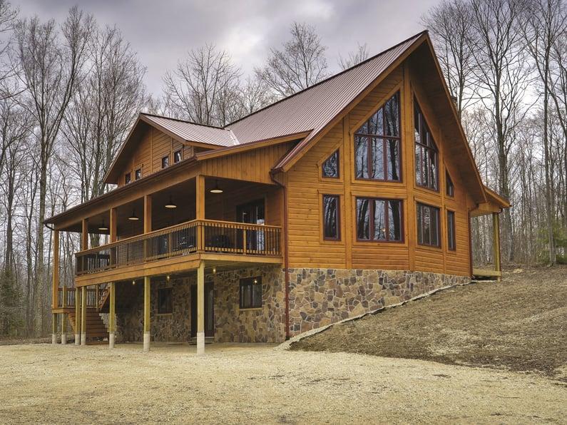 Timber Block custom log wood home