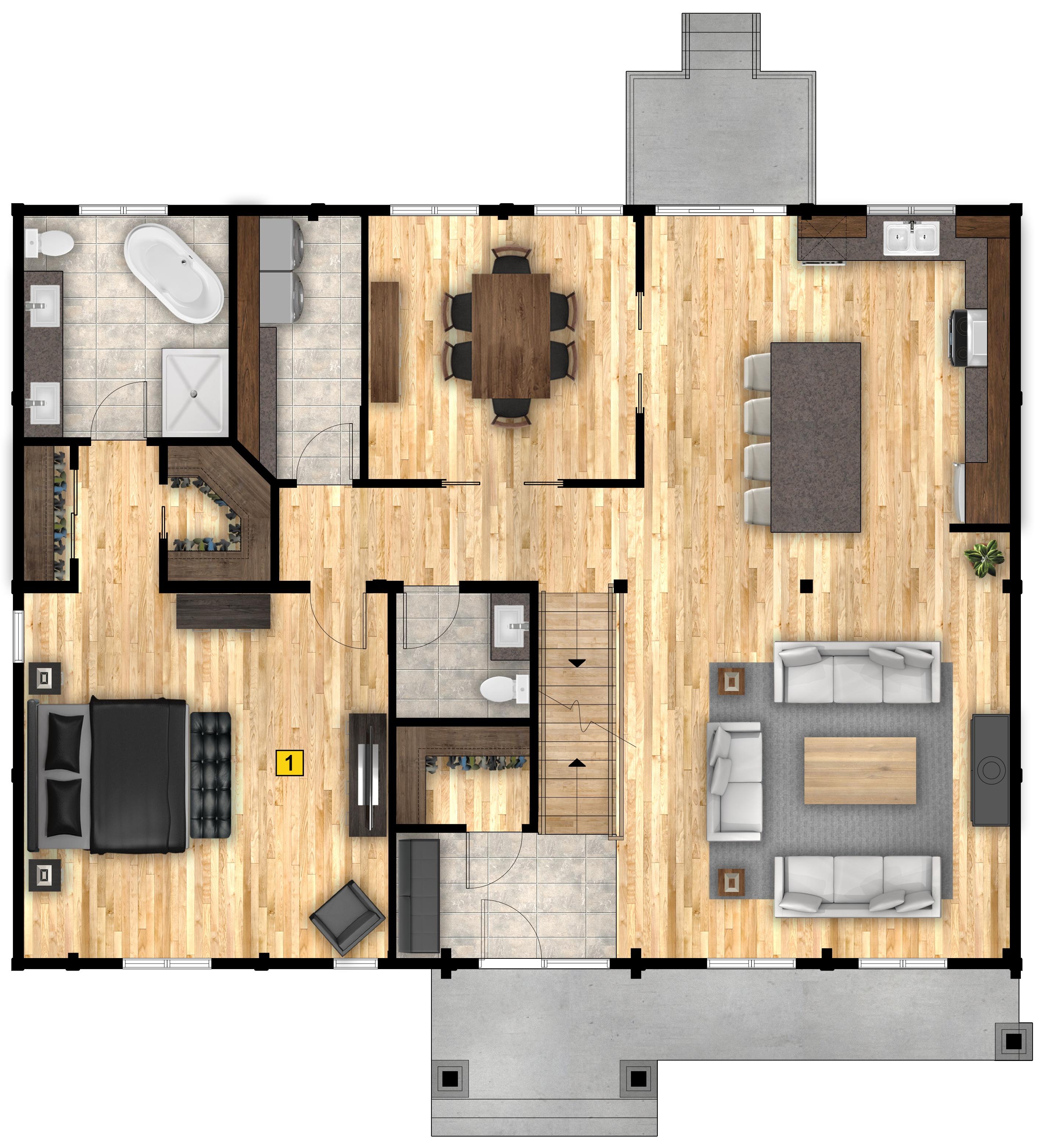 Denali floor plan 1