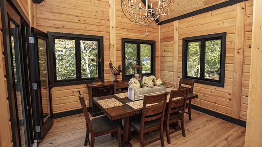 Timber Block Dining room