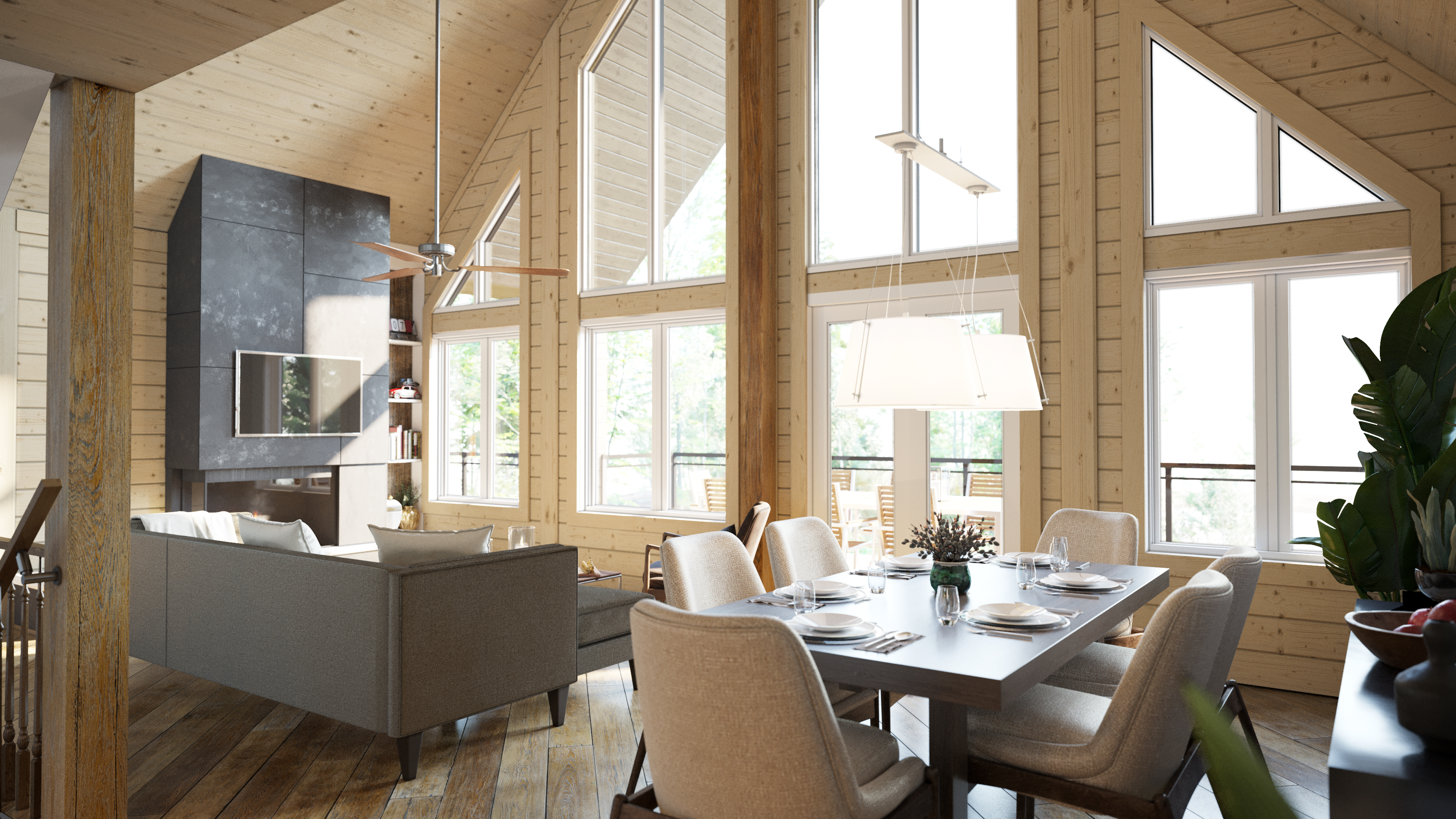 Timber Block Eastman Living Room New