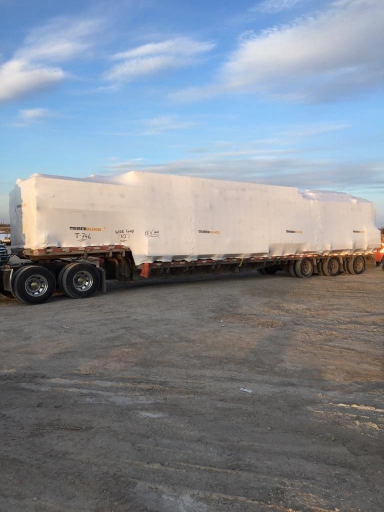 Timber Block Gregor Homes truck