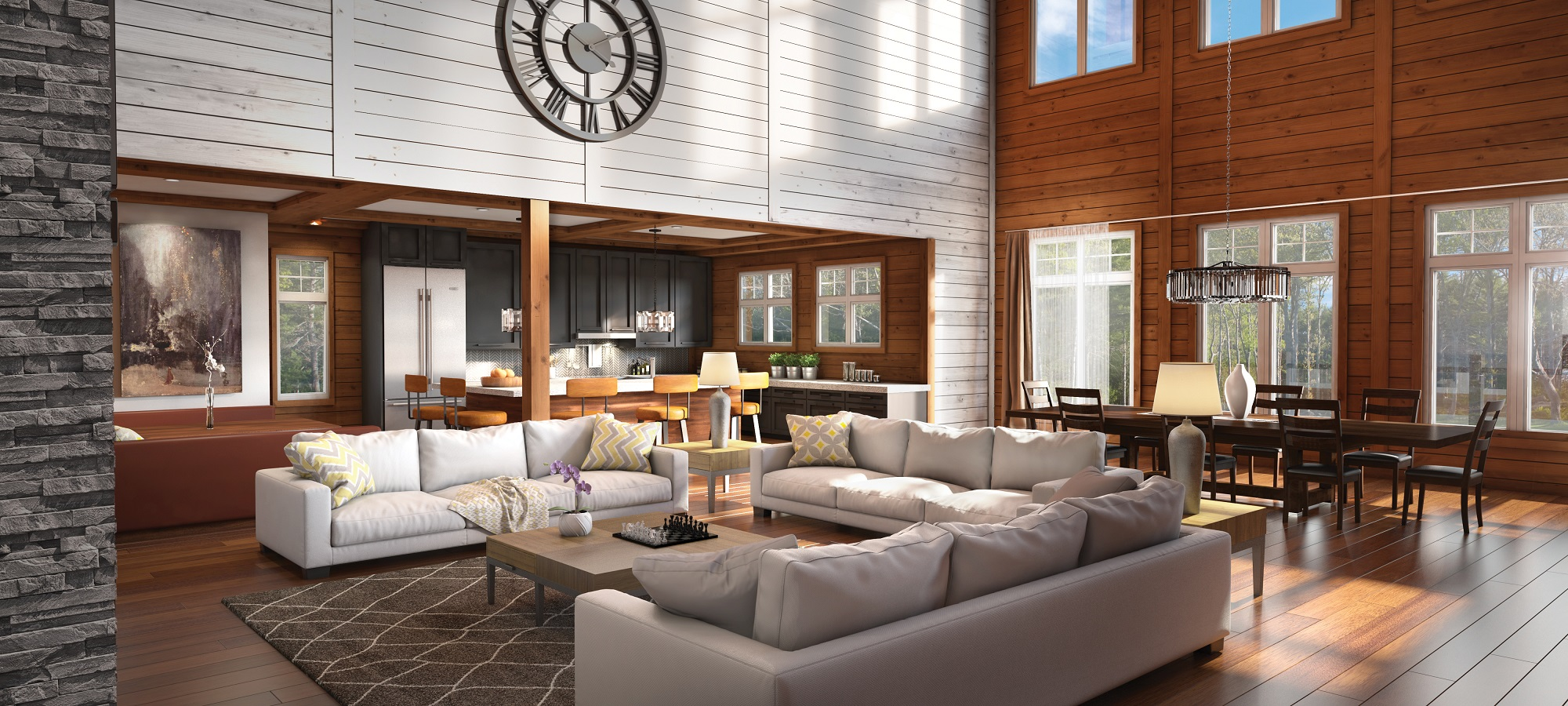 Timber Block jackson craftsman home interior