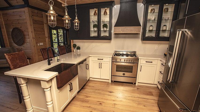 Timber Block kitchen custom dakota