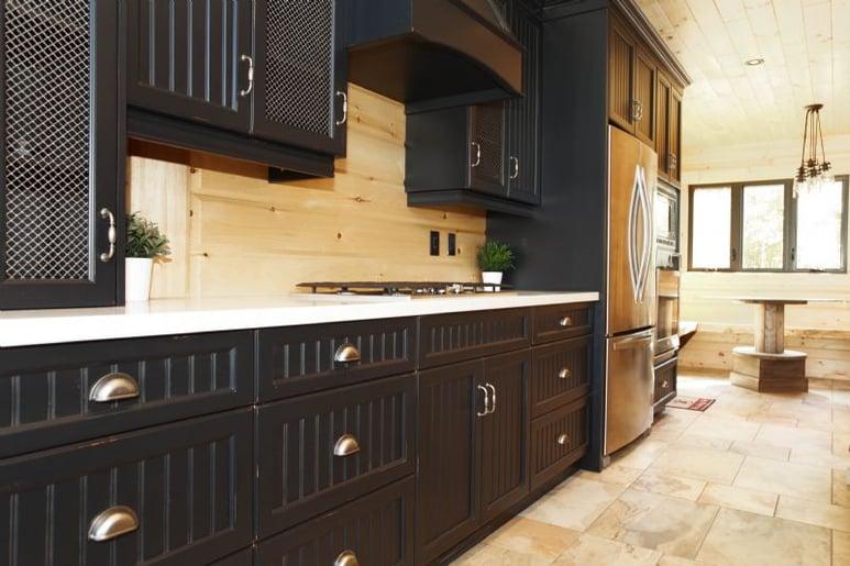Timber Block kitchen Labrador model
