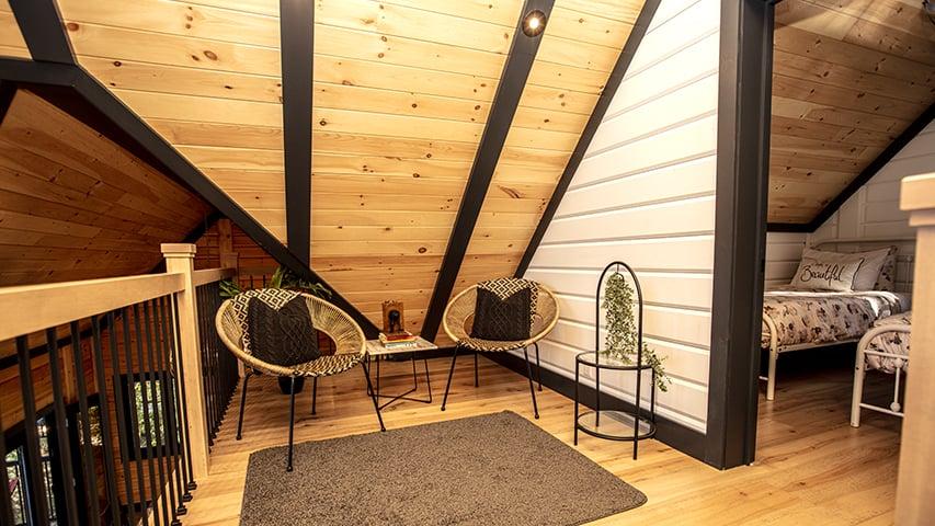 Timber Block upstairs loft