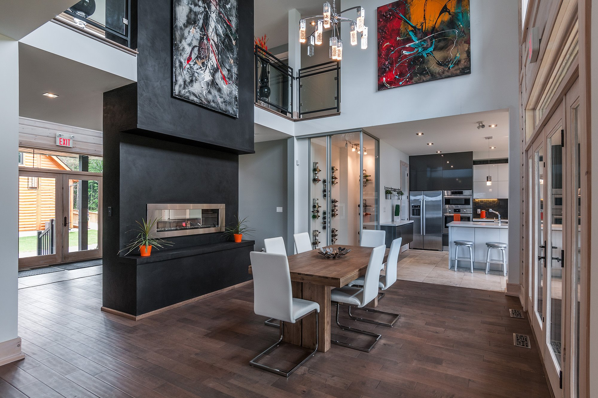 Timber block ontario contemporary homes
