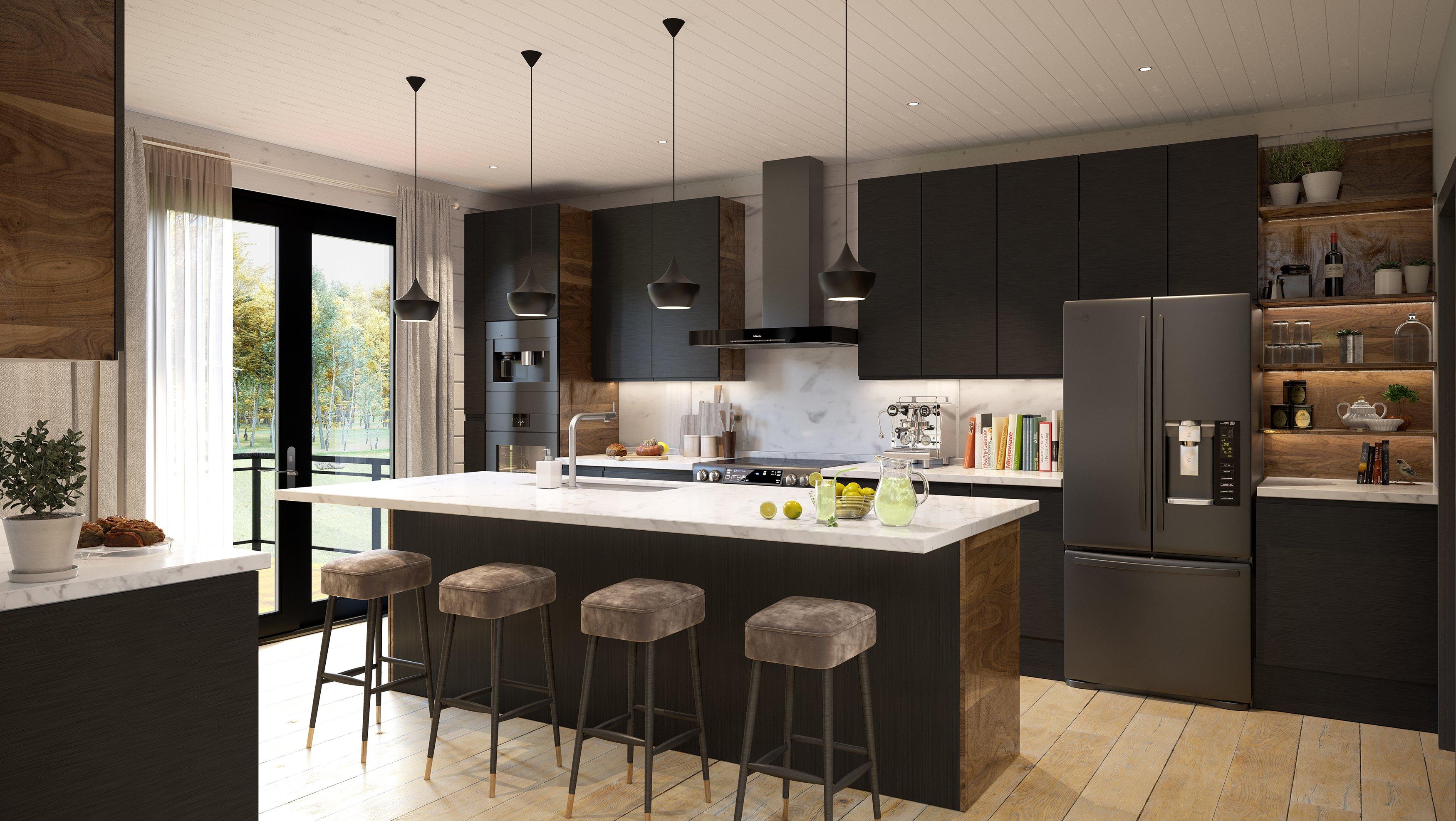 Timber Block custom Milano kitchen