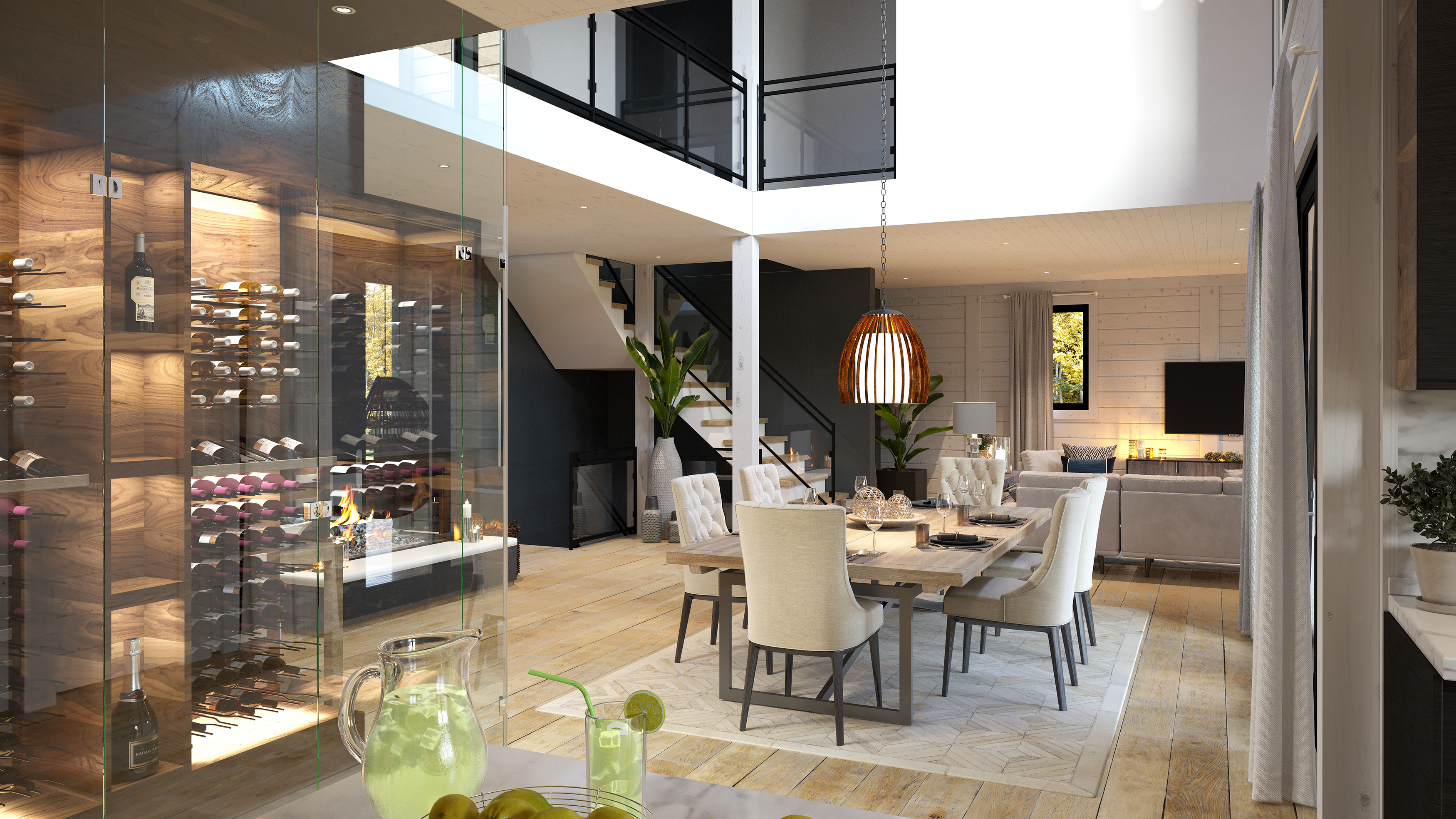 Timber Block Custom Milano Dining and Living Rooms