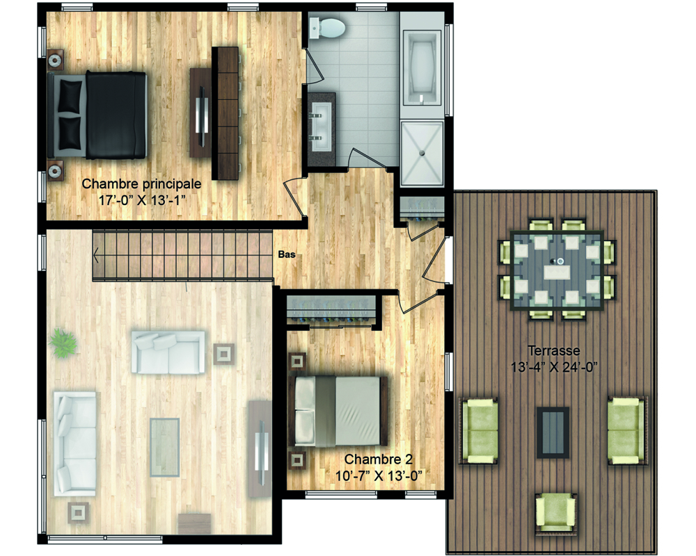 Timber Block Monterey Floor Plan Up
