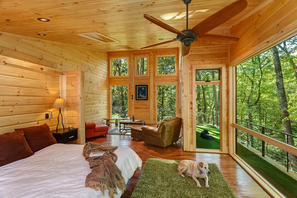 custom timber block master bedroom