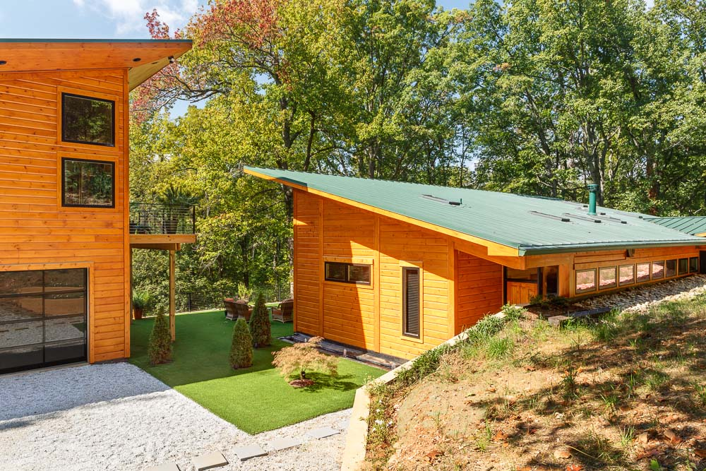 custom timber block home construction