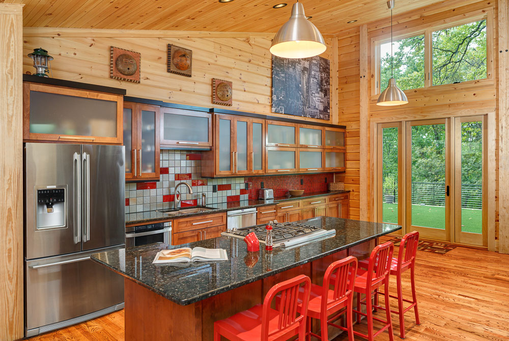 timber block custom contemporary kitchen