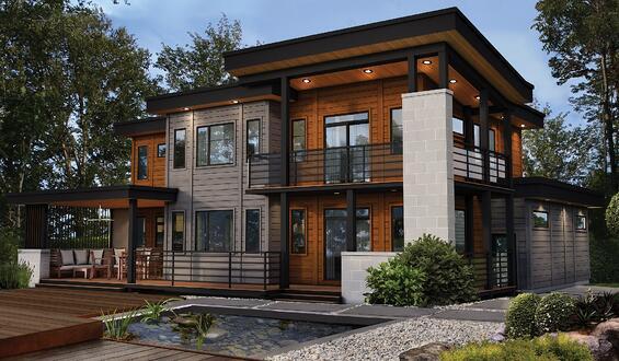 Timber Block Contemporary Morgan Home