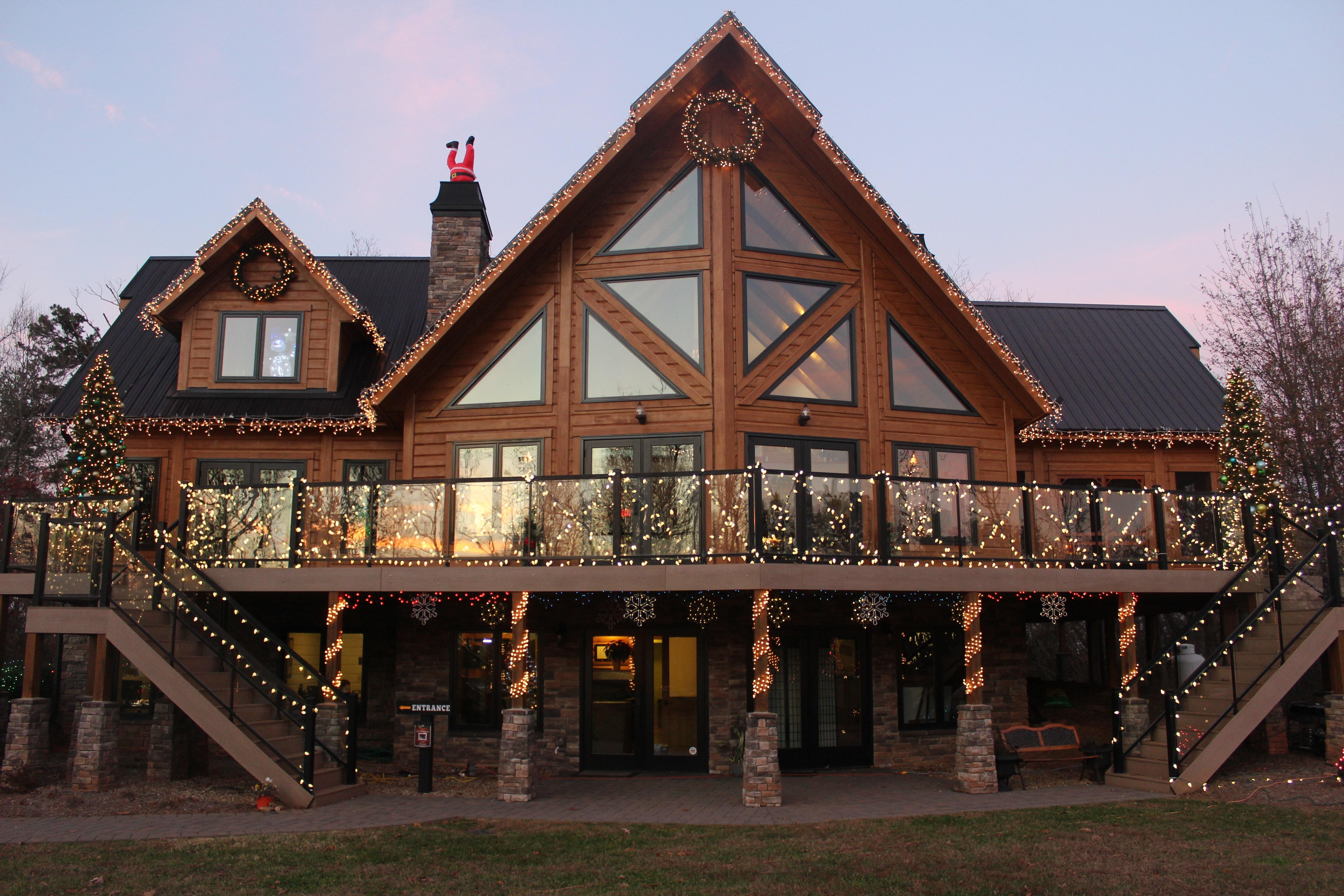 TImber Block North Carolina Christmas Light