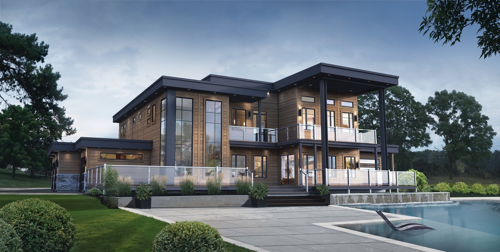 Panorama Timber Block Contemporary Model Home