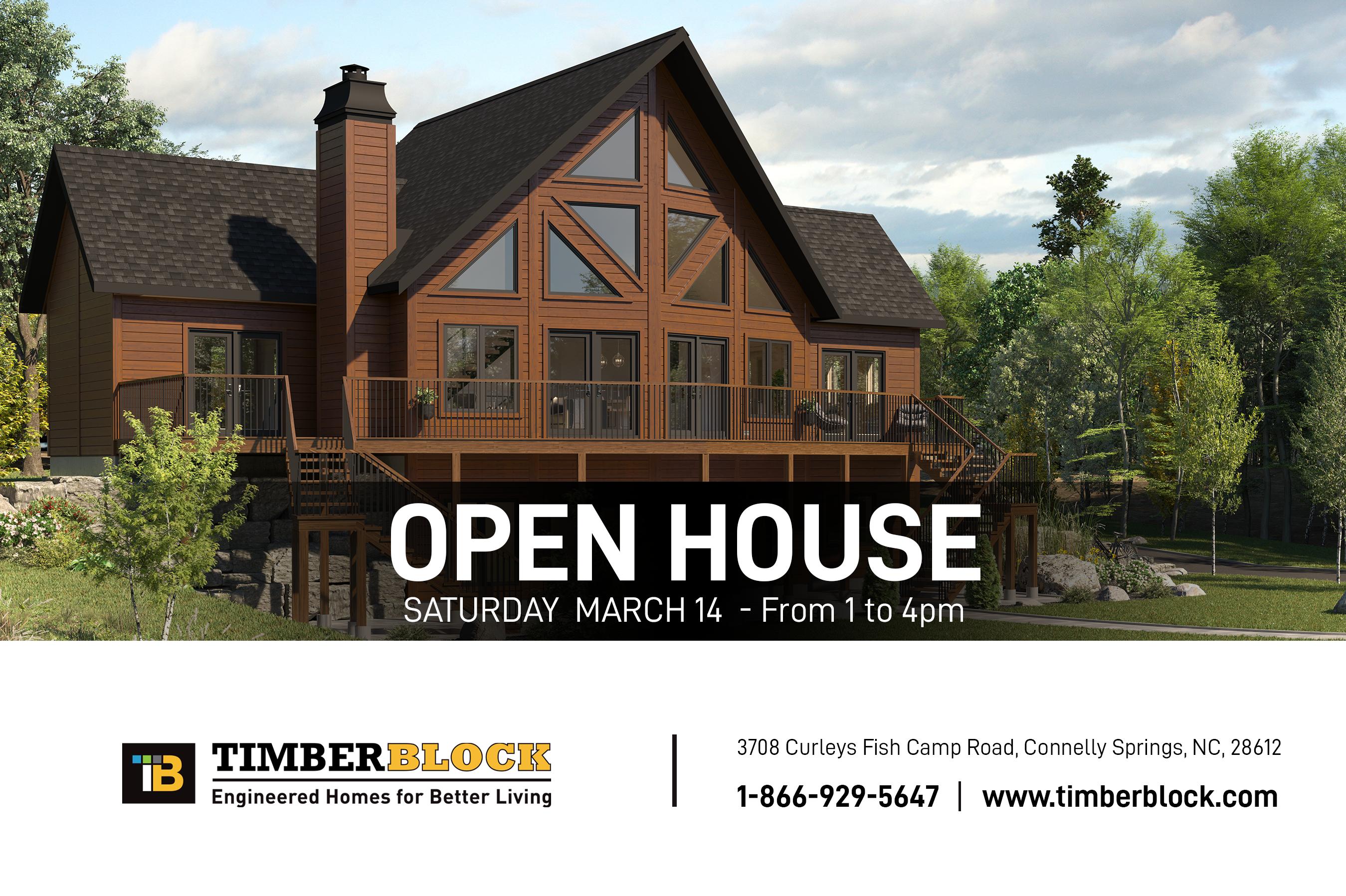 North Carolina Open House Timber Block