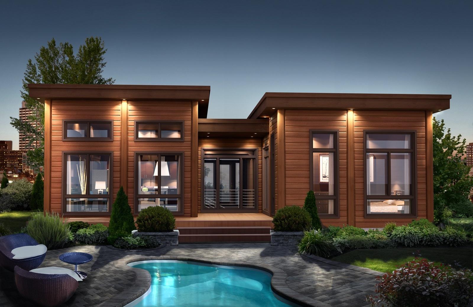 Timber Block Contemporary Santiago model