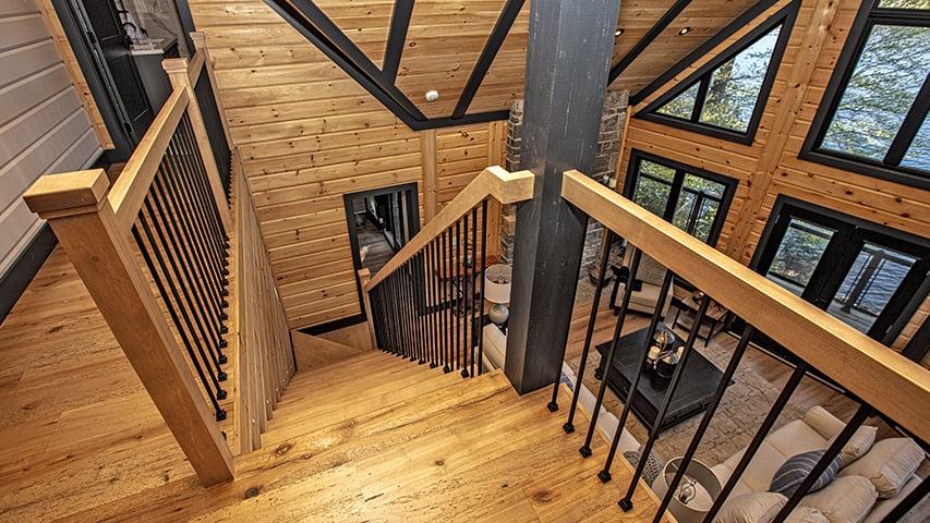 Timber Block stair case