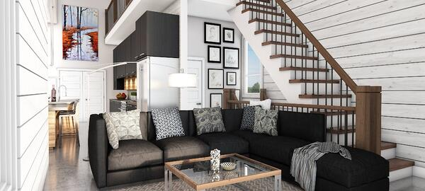 Sanford Timber Block interior homes