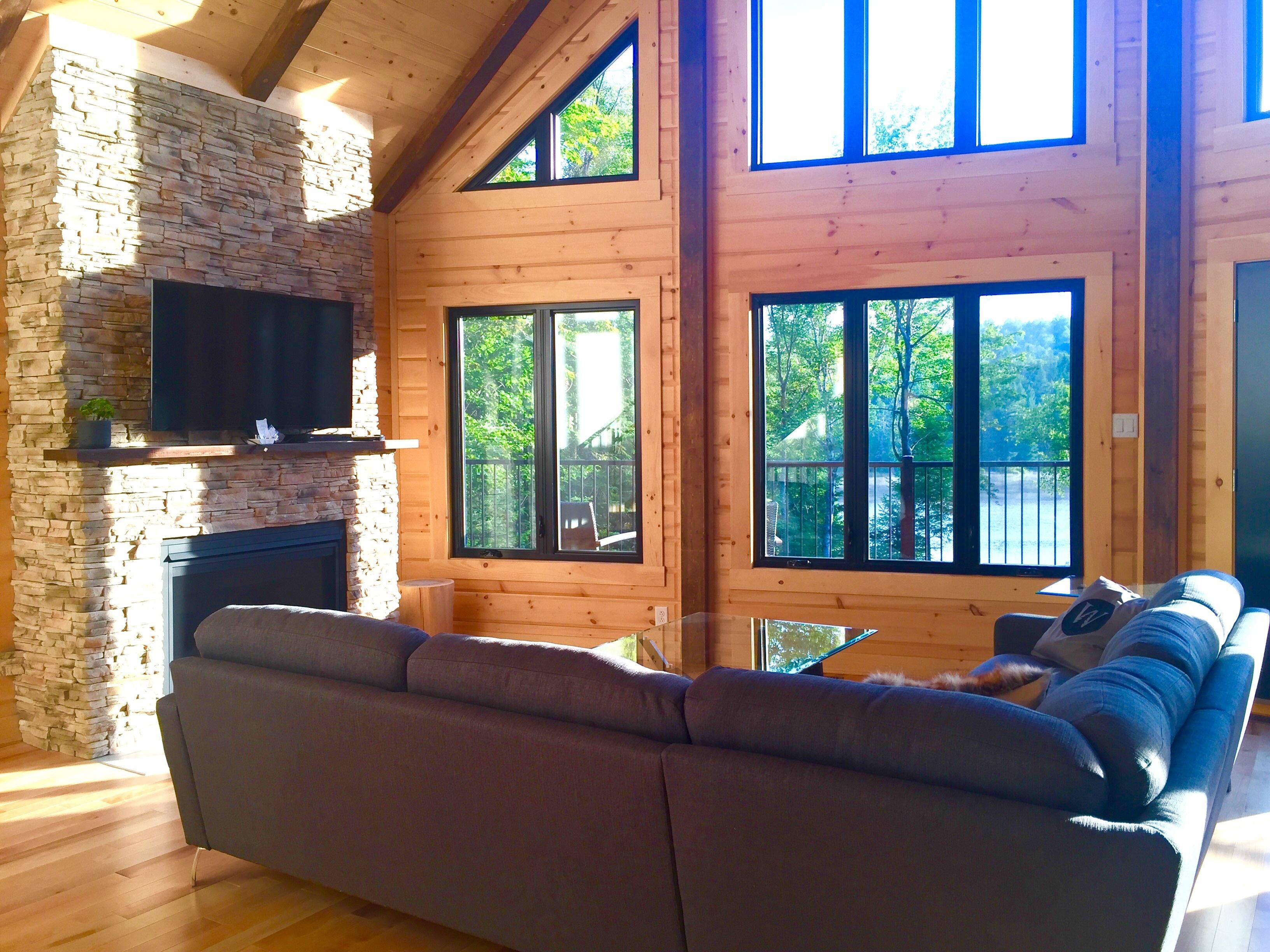 Timber Block windows morning
