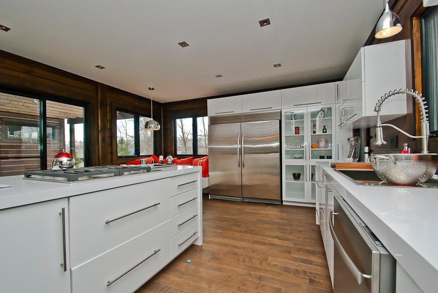 Contemporary Timber Block Kitchen