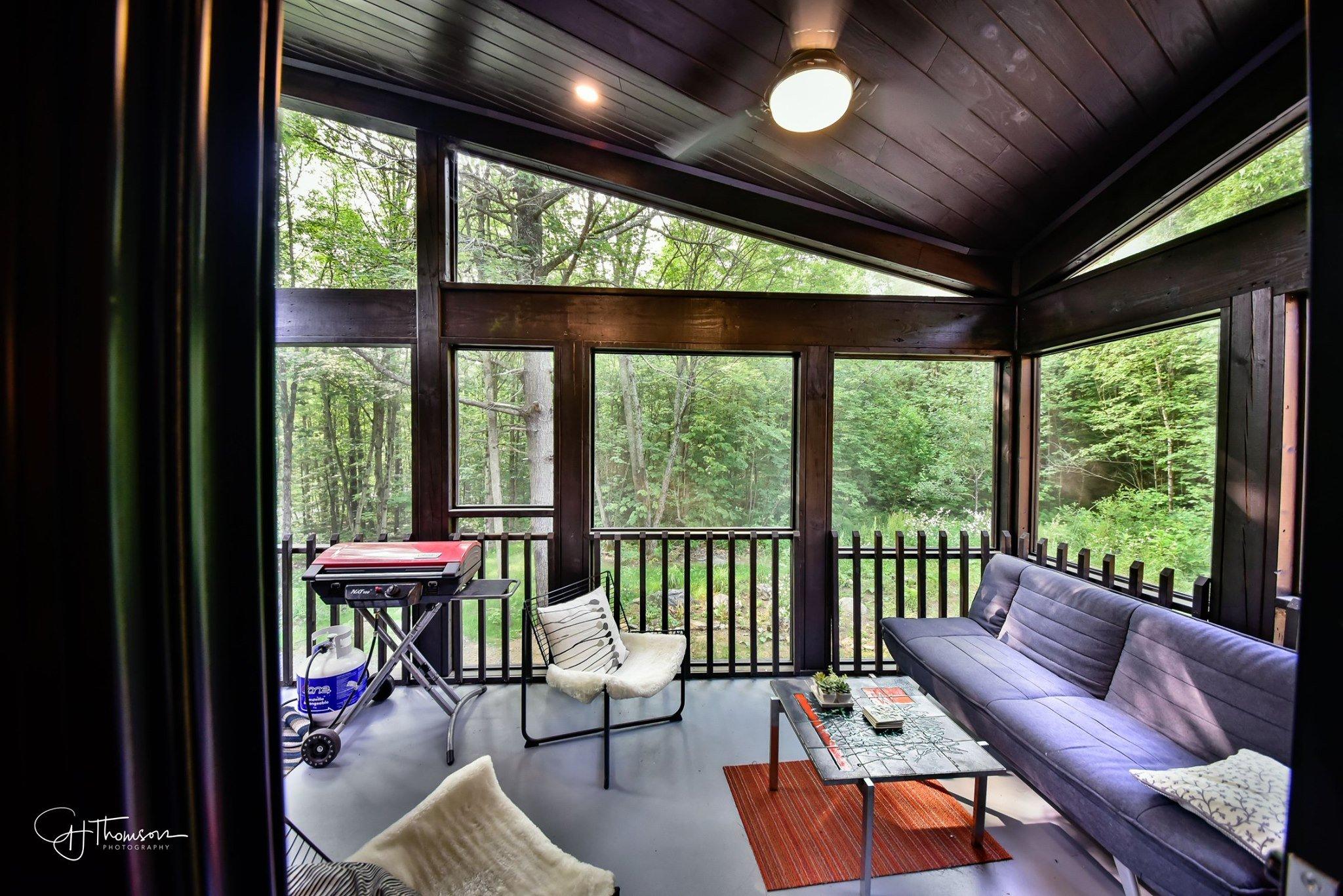 Timber Block tiny home outdoor living