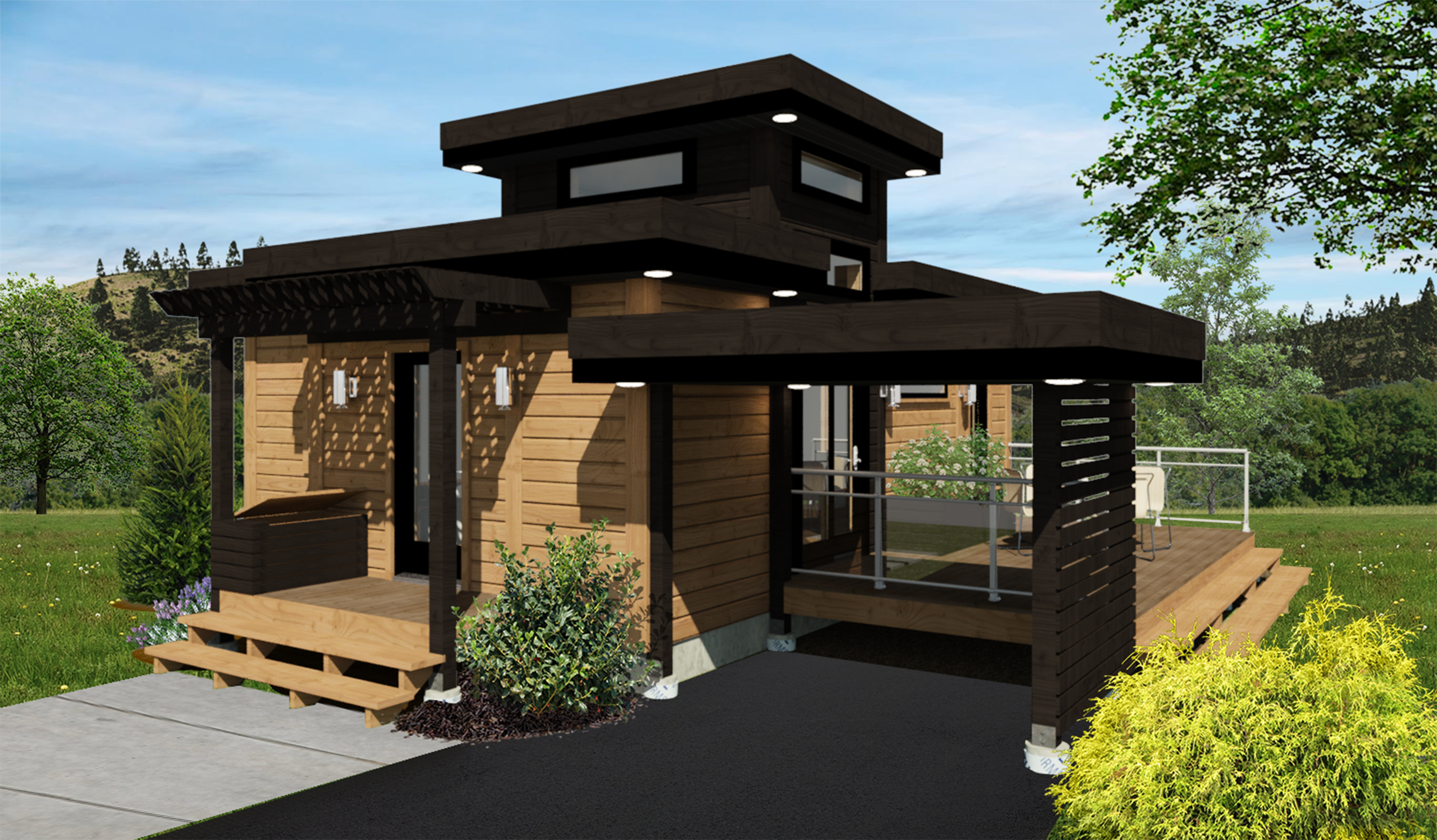 Contemporary Home Vista Timber Block