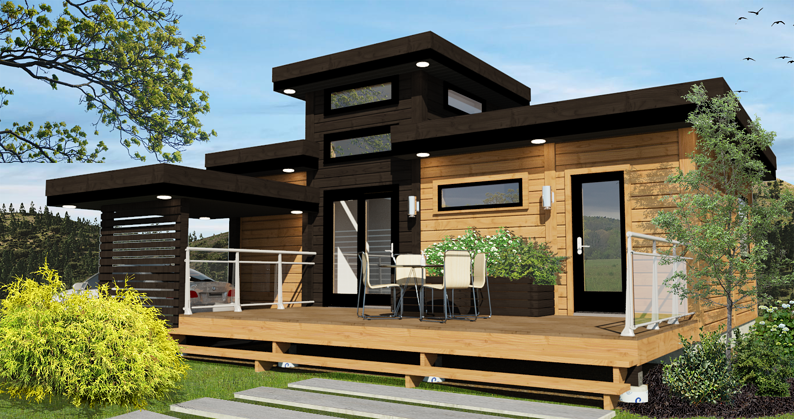 Timber Block vista contemporary tiny home model