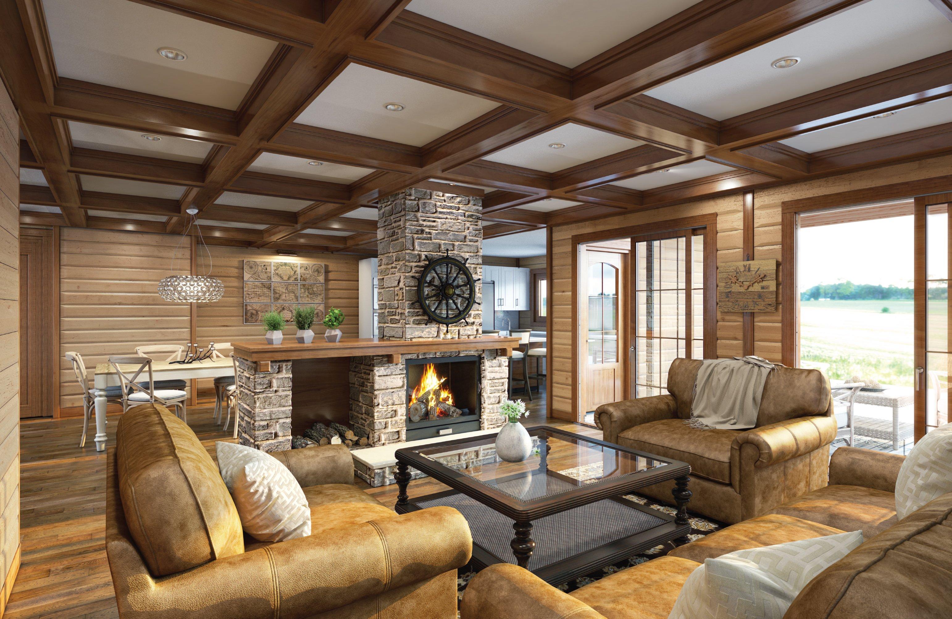 Timber Block whistler home interior