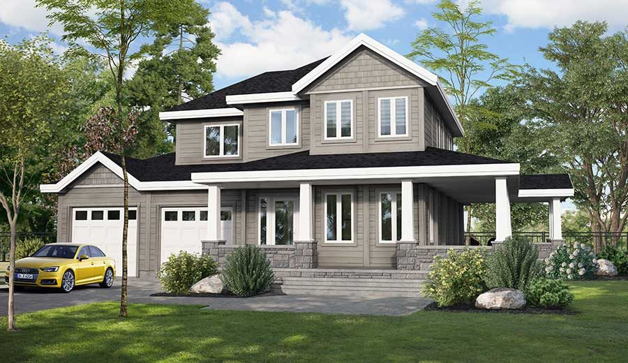 Craftsman style home - the Aster