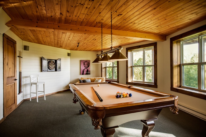 Timber Block home basement