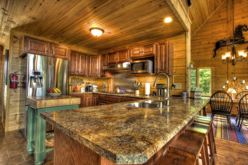 kitchen home design timber block