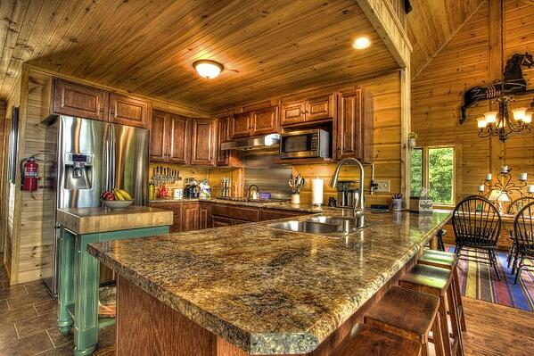kitchen home design timber block