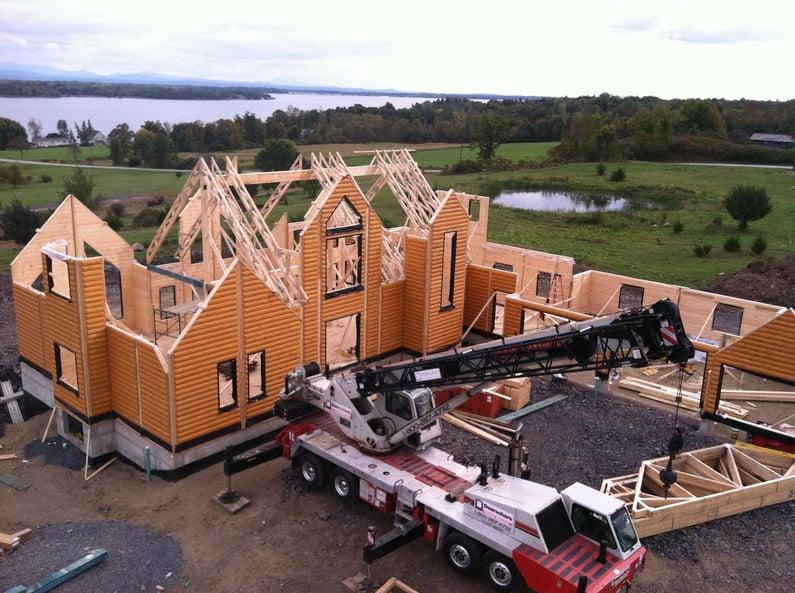 Construction Timber Block Homes