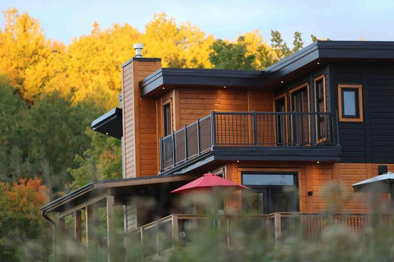 Timber Block contemporary custom home