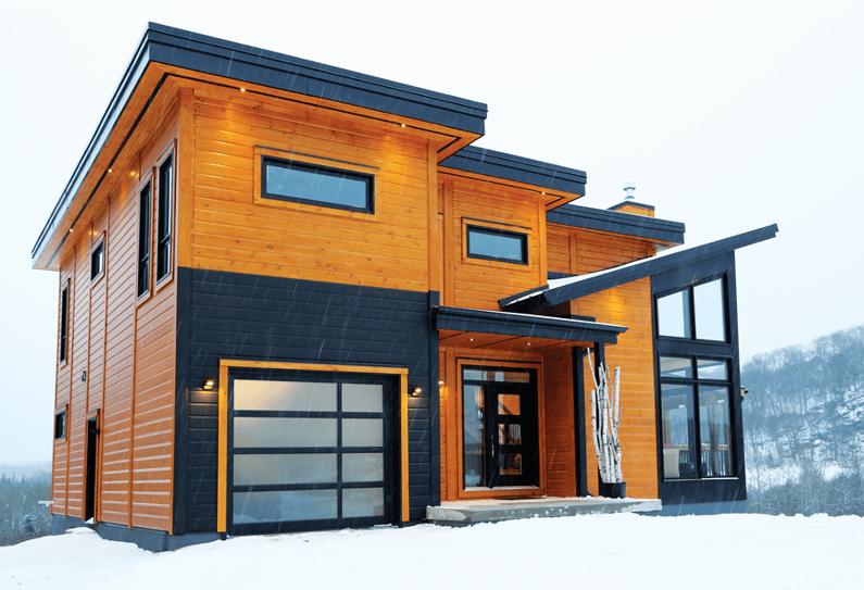 timber block contemporary custom