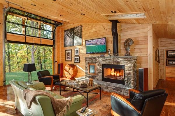 fireplace timber block