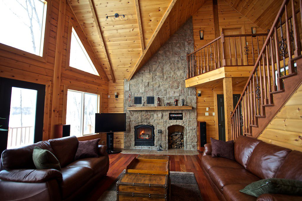 Timber Block classic wood fireplace